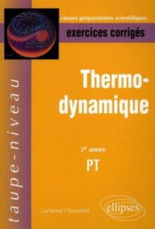 Thermodynamique - 2e année PT - Exercices corrigés