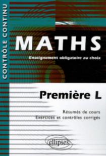 Mathématiques - Enseignement obligatoire au choix - Première L