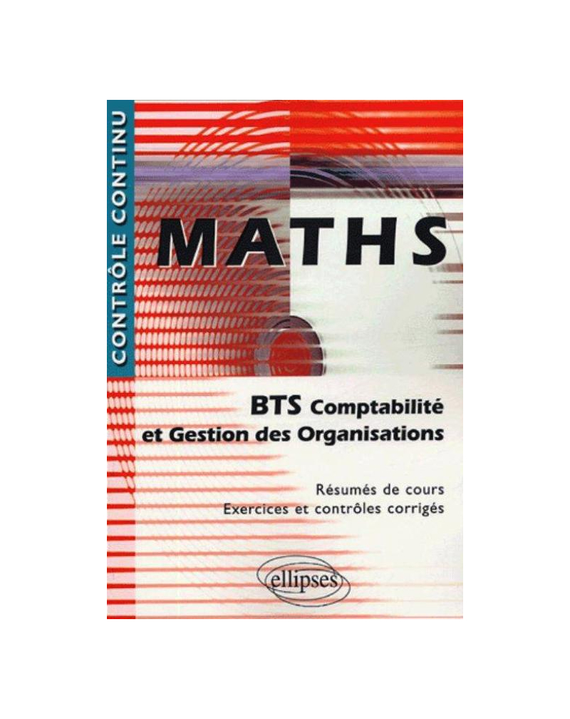 Mathématiques - BTS Comptabilité et Gestion des organisations