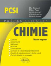 Chimie PCSI - nouveau programme