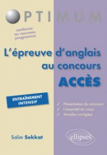 l'épreuve d'anglais au concours ACCES