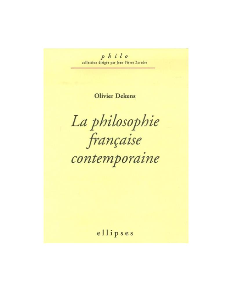 philosophie française contemporaine (La)