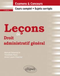 Leçons de Droit administratif général, 2e édition