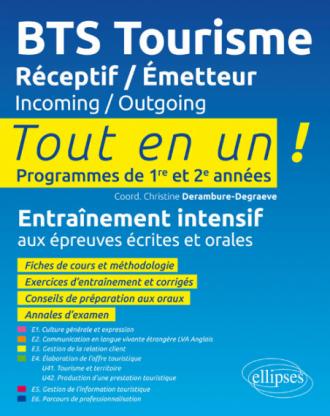 BTS Tourisme. Réceptif / Émetteur. Incoming / Outgoing.