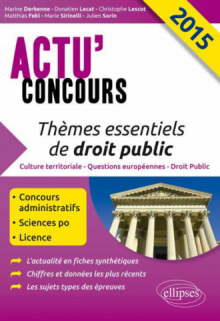Thèmes essentiels de droit public - 2015