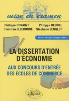 La dissertation d'économie aux concours d'entrée des écoles de commerce
