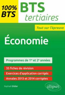 BTS Tertiaires - Economie - programme 1re et 2e années