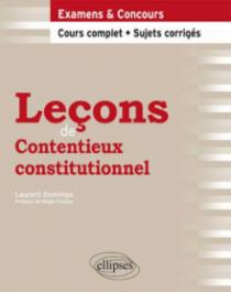 Leçons de Contentieux constitutionnel