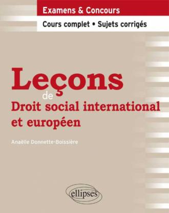 Leçons de Droit social international et européeen