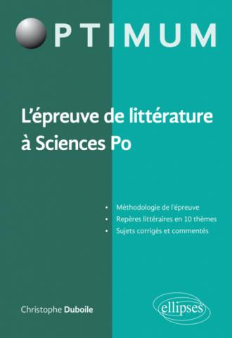 L'épreuve de littérature à Sciences Po