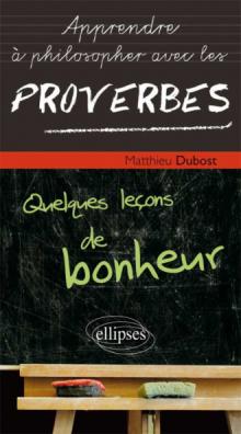 Philosopher avec les proverbes