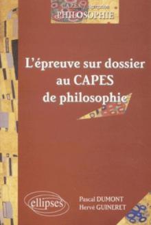 L'épreuve sur dossier au CAPES de philosophie