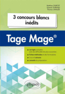 3 concours blancs Tage Mage®