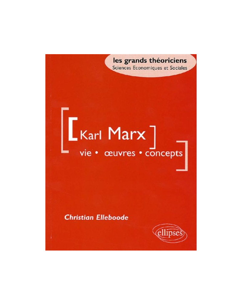 Marx Karl - Vie, oeuvres, concepts