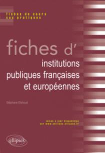 Fiches d'institutions publiques françaises et européennes