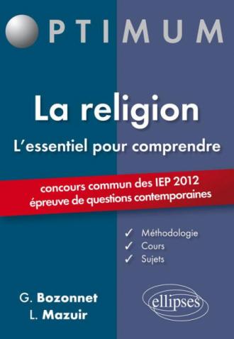 L'essentiel pour comprendre la religion (IEP 2012)