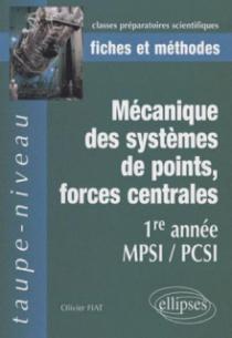 Mécanique des systèmes de points, forces centrales