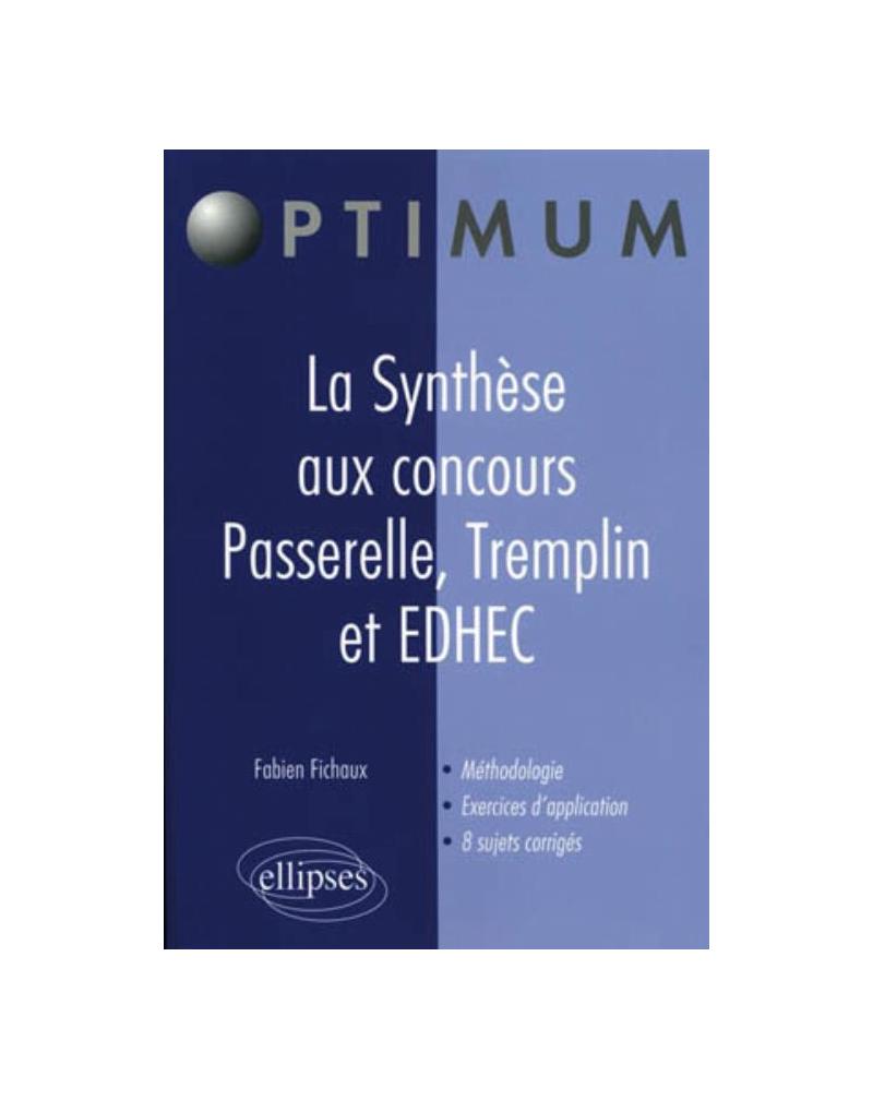 La Synthèse aux concours Passerelle, Tremplin et EDHEC