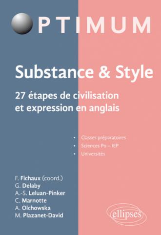 Substance & style. 27 étapes de civilisation et expression en anglais