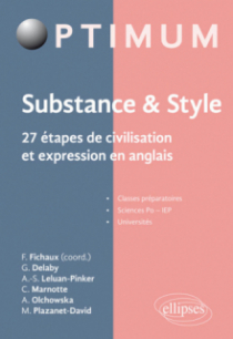 Substance & style. 27 étapes de civilisation et expression en anglais