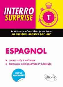 Espagnol Interro Surprise 1re - Grammaire et Vocabulaire