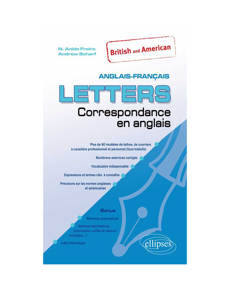 Letters - British and American. Correspondance en anglais