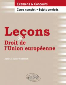 Leçons de Droit de l'Union européenne