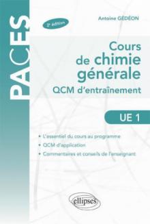 UE1 - Cours de chimie générale. QCM d'entraînement
