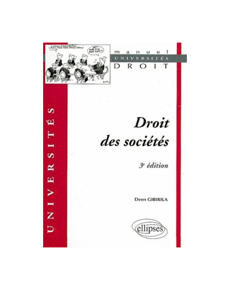 Droit des sociétés. 3e édition