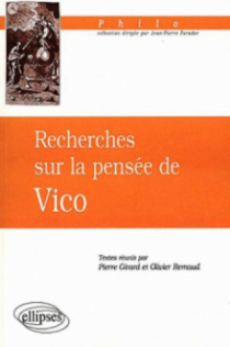 Recherches sur la pensée de Vico