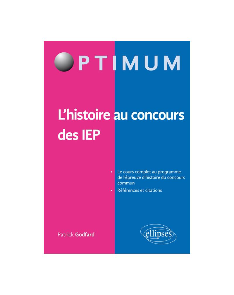 L'histoire aux concours des IEP