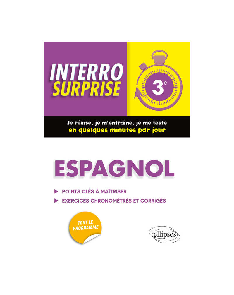 Espagnol interro surprise troisième (3e)