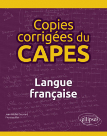 Copies corrigées du CAPES - Langue française