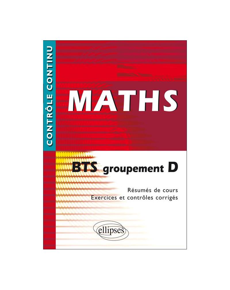 Mathématiques BTS groupement D