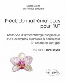 Précis de mathématiques pour l'IUT - Méthode d'apprentissage progressive avec exemples, exercices à compléter et exercices corrigés. BTS & DUT industriels.