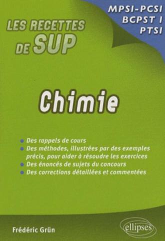 Chimie - Classes prépas MPSI - PCSI - PTSI