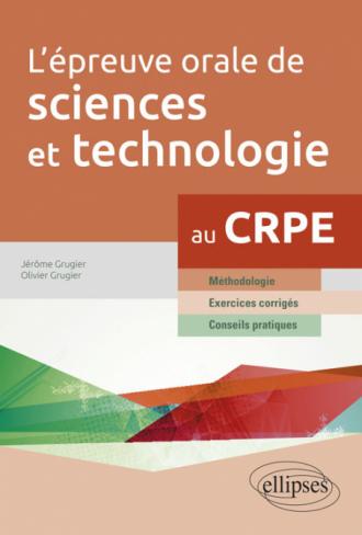 L'épreuve orale de sciences et technologie au CRPE