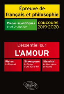 Thème et les trois œuvres. Epreuve de français/philo. Prépas scientifiques. 2019-2020
