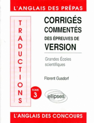 Traductions (version) écoles scientifiques tome 3