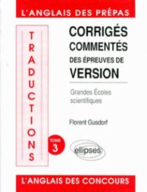 Traductions (version) écoles scientifiques tome 3