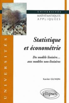 Statistique et économétrie - Du modèle linéaire… aux modèles non-linéaires
