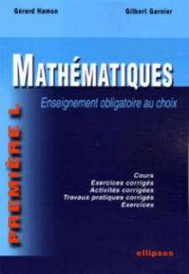 Mathématiques - Première L - enseignement obligatoire au choix