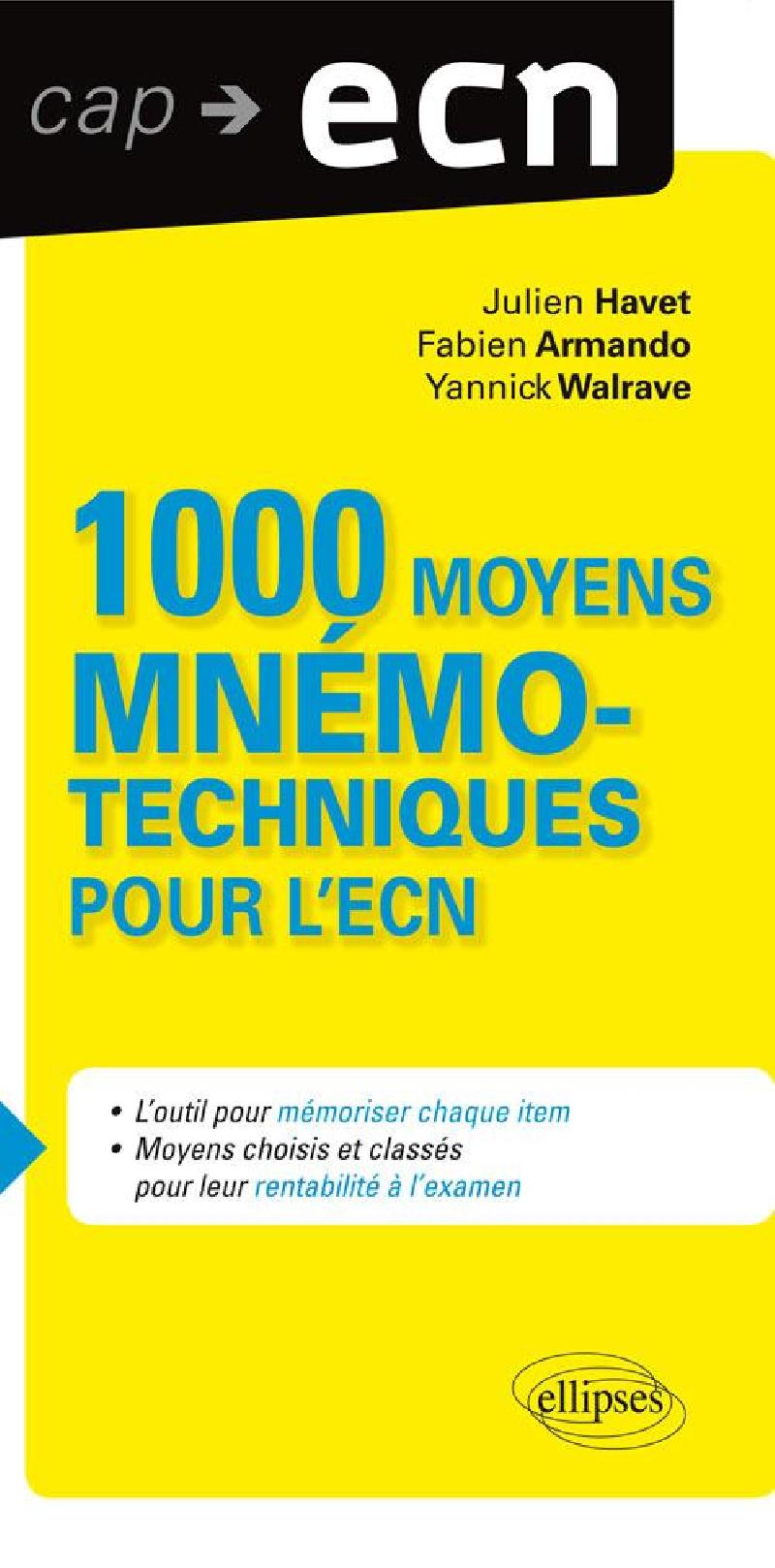 1000 moyens mnémotechniques pour l'ECN