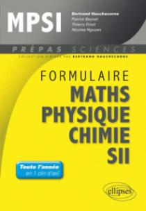 Formulaire : Mathématiques - Physique-Chimie -SII - MPSI