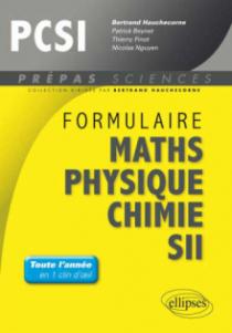 Formulaire : Mathématiques - Physique-Chimie -SII - PCSI