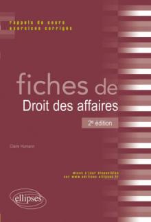 Fiches de Droit des affaires - 2e édition