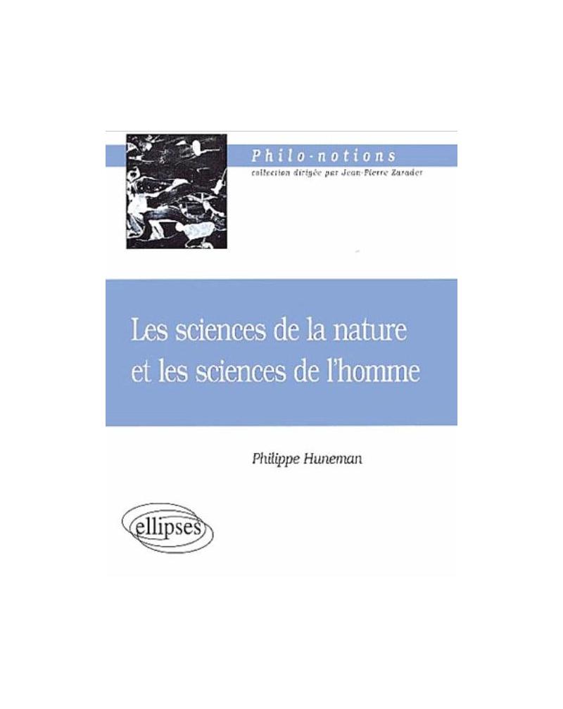 sciences de la nature et les sciences de l'homme (Les)