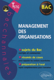 Management des organisations - Terminale STG