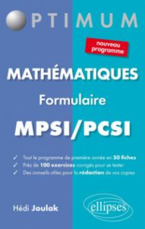 Formulaire mathématiques - MPSI/PCSI (nouveau programme)