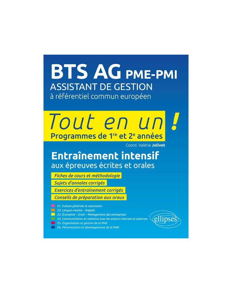 BTS AG PME-PMI  Assistant de gestion à référentiel commun européen